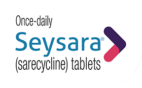 Once-daily Seysara (sarecycline) tablets logo